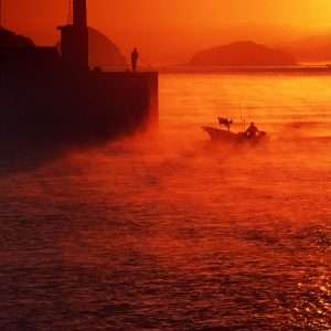 ええところ発見賞 「夜明けの出漁」 山田 満里子