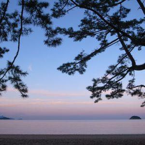 入選 「蟹甲湾の夕暮れ」 7d_blue_sky